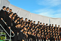 Graduazione dell'università in Tailandia Fotografia Stock Libera da Diritti