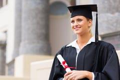 Graduazione dello studente di college Fotografia Stock