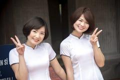 Graduazione dello studente di Hanoi Fotografia Stock Libera da Diritti