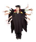 Graduazione di divertimento Immagini Stock Libere da Diritti