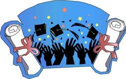 Graduazione e celebrazione Fotografia Stock Libera da Diritti