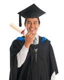 Graduazione emozionante dello studente universitario Fotografia Stock Libera da Diritti