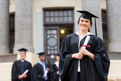 Graduazione laureata dell'istituto universitario Fotografia Stock Libera da Diritti
