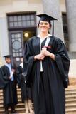 Graduazione laureata della femmina Fotografia Stock