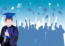 Graduazione in siluetta illustrazione di stock