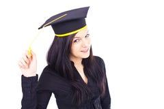 Graduierende Frau Stockfotos