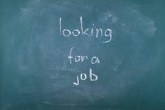 Graduiert, nach einem Job suchend Stockfotografie