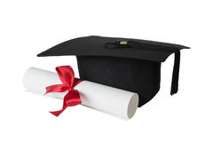 Graduierte Hut- und Papierrolle Stockbilder