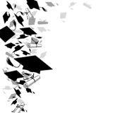 Graduierte Kappen und Diplom Lizenzfreies Stockfoto