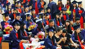 Graduierte Zeremonie an der Universität lizenzfreie stockbilder