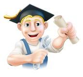 Graduierter Klempner oder Mechaniker lizenzfreie abbildung