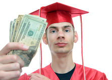 Graduiertes Holding-Geld Stockfotografie