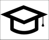 Graduiertes Hut-Ikonenisolat Lizenzfreie Stockfotografie