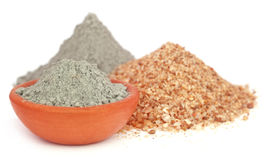 Grady cement in a bowl with two types of sand Royalty Free Stock Images
