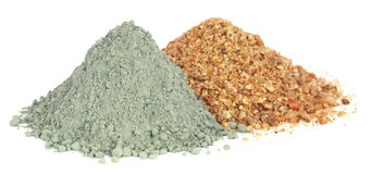 Grady cement powder with gravel Stock Photo