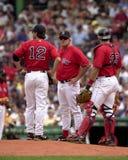 Grady Little, de Rode Sox manager van Boston Stock Foto