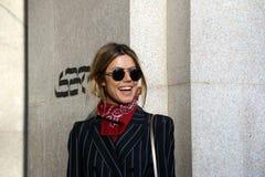 Graeff inverno 2015 2016 do outono do streetstyle da semana de moda de Milão de Martha, Milão Foto de Stock