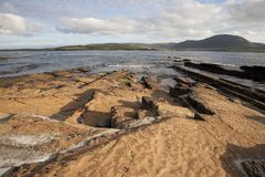 Graemsay and Hoy in the Orkney Islands Stock Images