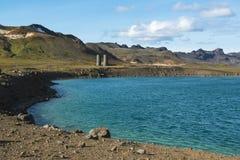 Graenavatn или зеленое озеро, озеро кратера взрыва к югу от Reykjavik, Исландии Стоковые Фотографии RF
