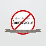 Graet American Smokeout poster Stock Image
