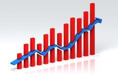 Graf. Development diagram of progress your business Stock Images
