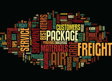 Graf Air Freight Text Background  Word Cloud Concept Stock Photography
