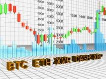 Graf av Crypto-valuta Royaltyfri Foto