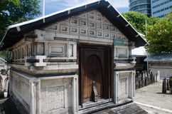 Graf bij begraafplaats maldives Stock Foto's