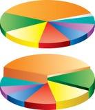 Graf circle. Vector abstract graph in circle Royalty Free Stock Photo