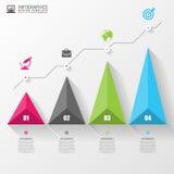 graf 3D för infographic modern mall för design vektor Arkivbilder