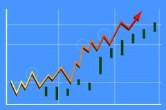 graf för 02 finans Arkivfoton