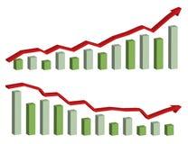graf för affär 3d Arkivfoton
