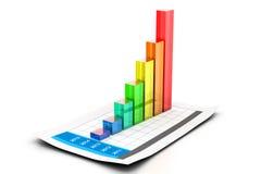 graf för affärsdiagram Fotografering för Bildbyråer