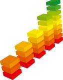 graf för färg 3d Royaltyfri Bild