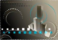 graf för finans 3d Arkivbilder