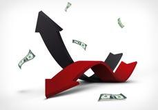 Graf för inkomstkostnadsabstrakt begrepp Royaltyfria Bilder