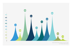 Graf för kolonn för statistik för vektorlägenhetdesign, diagram royaltyfri illustrationer