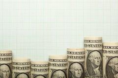 Graf för USA-valutauptrend Royaltyfri Fotografi