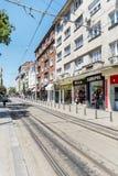 Graf Ignatiev Street au centre de Sofia, Bulgarie Photo stock