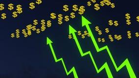 Graf med grönt dollarsymbol Royaltyfri Foto