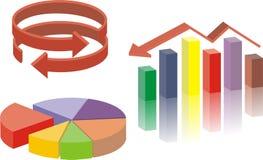Graf och diagram Arkivfoton