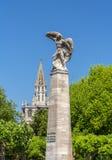 Graf sterowiec statua w Konstanz, Niemcy fotografia stock