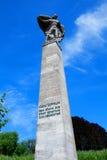 Graf sterowiec statua w Konstanz, Niemcy zdjęcie stock