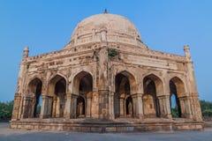 Graf van Adham Khan in Mehrauli-district van Delhi, Ind. royalty-vrije stock foto's