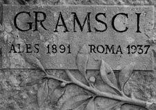 Graf van Antonio Gramsci royalty-vrije stock afbeelding