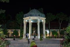 Graf van Hafez bij nacht, Shiraz, Iran Stock Afbeeldingen