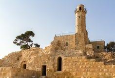 Graf van helderziende Samuel, Nabi Samwil-moskee in Israël stock foto's