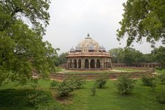 Graf van Isa Khan Niazi, Delhi, India royalty-vrije stock foto's