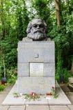 Graf van Karl Marx bij de Highgate-Begraafplaats in Londen royalty-vrije stock foto's