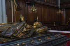 Graf van Mary van Bourgondië, Kerk van Onze Dame, Brugge, België royalty-vrije stock foto's